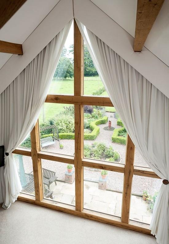 Fenstergardinen fr Dachzimmer  20 moderne Ideen