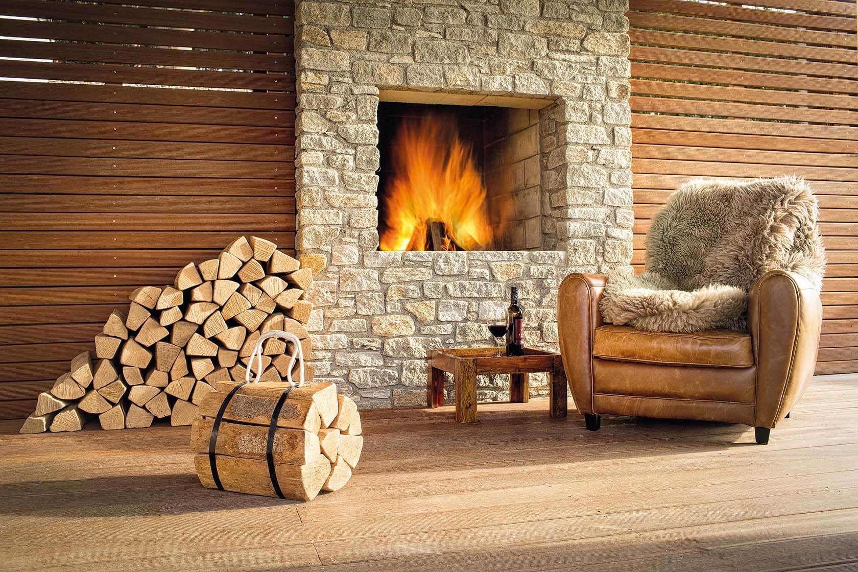 Brennholzlagerung im Wohnzimmer fein und leicht gemacht  Wohnideen und Dekoration