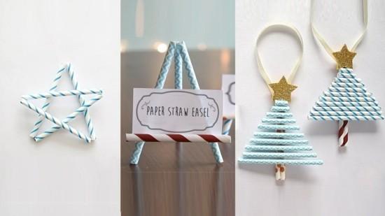 43 Ideen fr Basteln mit Strohhalmen zu Weihnachten