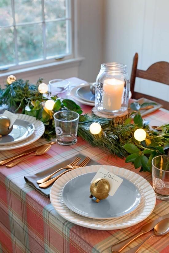 40 Ideen fr weihnachtliche Tischdeko