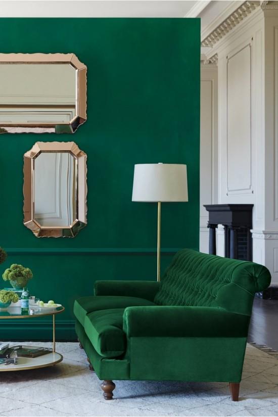 Schlafzimmer Ideen Grün | 60 Einrichtungsideen Wohnzimmer ...