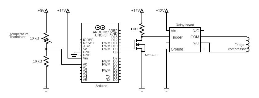 Arduino fridge controller