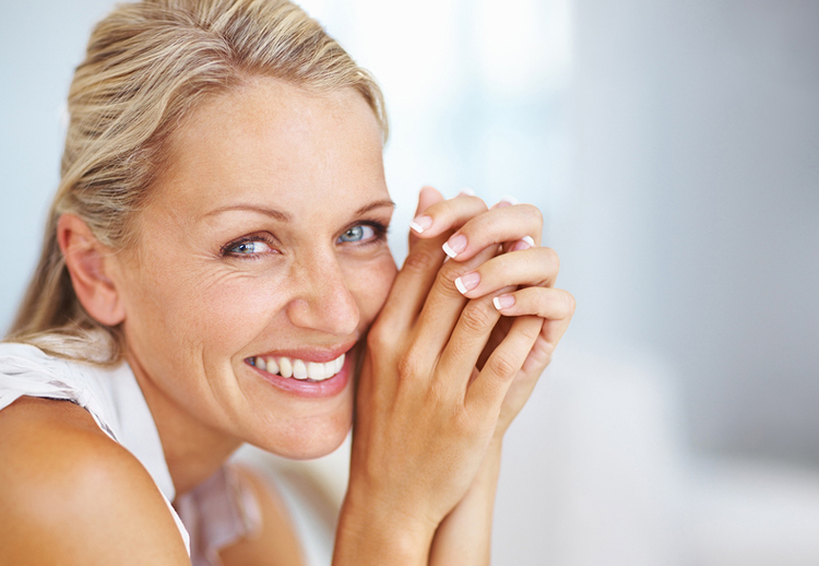 Beautiful middle aged woman smiling