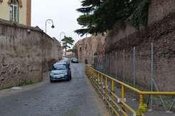 Walking up Via di Santo Stefano Rotondo