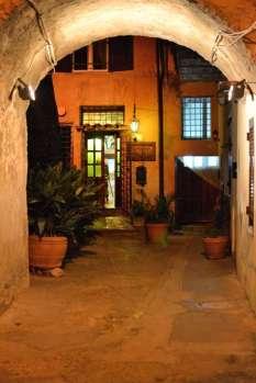 Entrance to Trattoria La Rocca