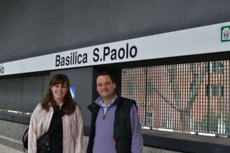 Taking the Metro to the Basilica of Saint Paul