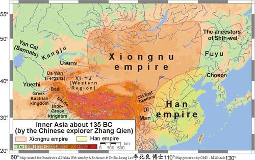 امبراطورية الهون الآسيويين.