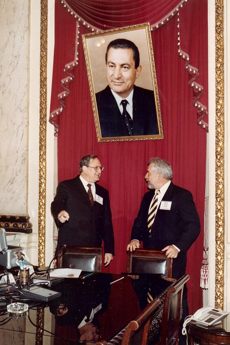 President Hosni Mubarak and Egyptian leaders