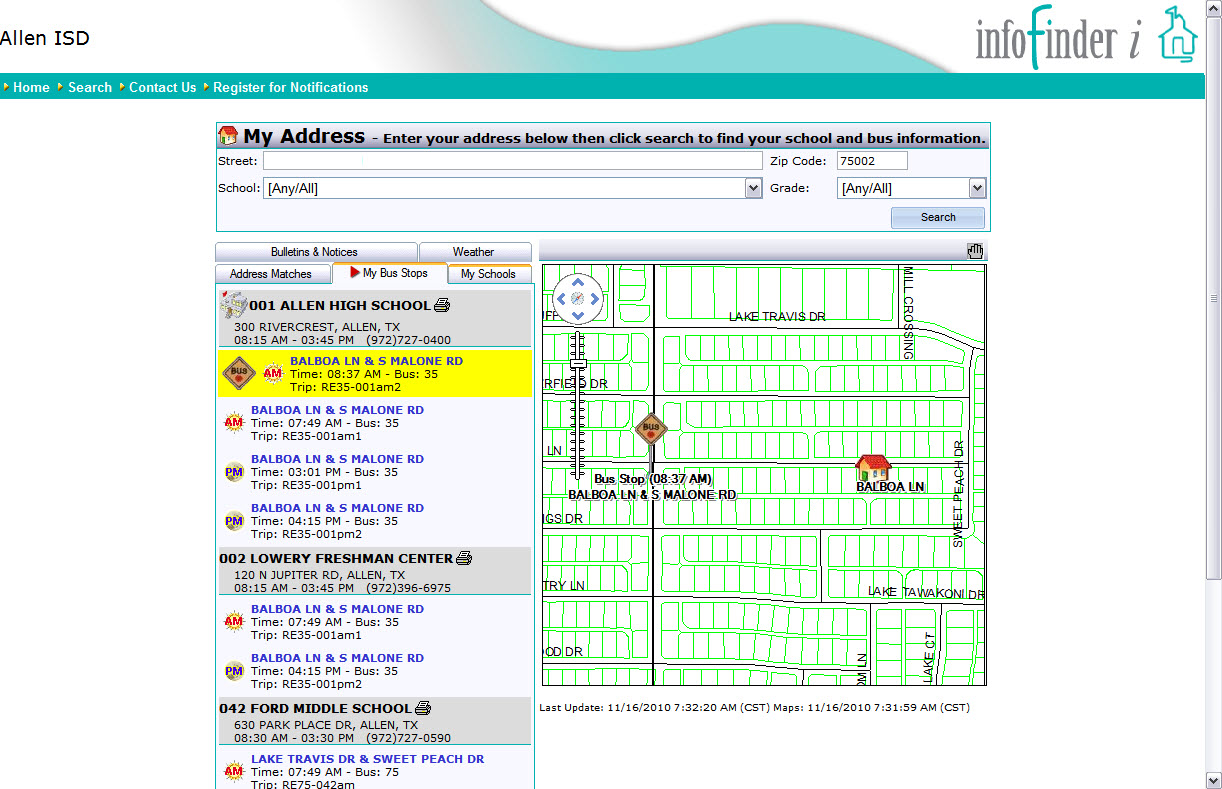 hight resolution of find your bus
