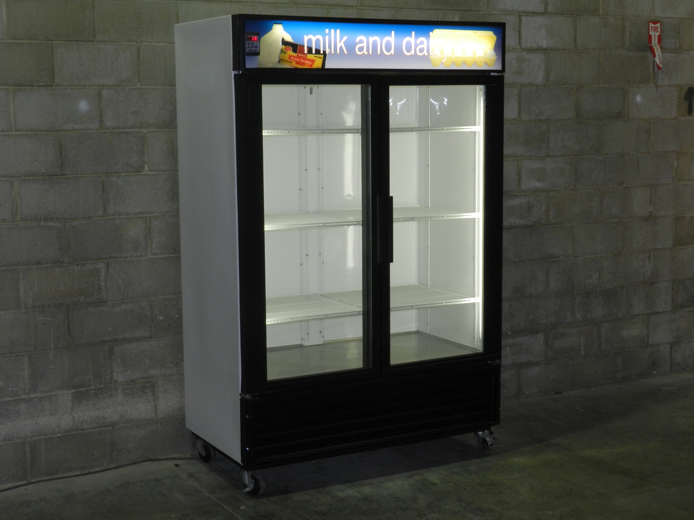 Used Two Glass Door Cooler Merchandiser  Used Two Glass