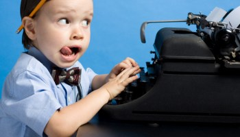 Image result for baby writer typing