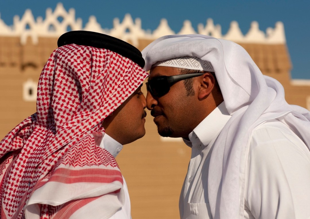 Shake my hand or ill kiss you allen r smith two arab men touching noses m4hsunfo