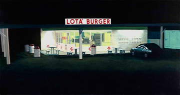 """Lota Burger,"" an oil painting by Jeffrey L. Neumann"