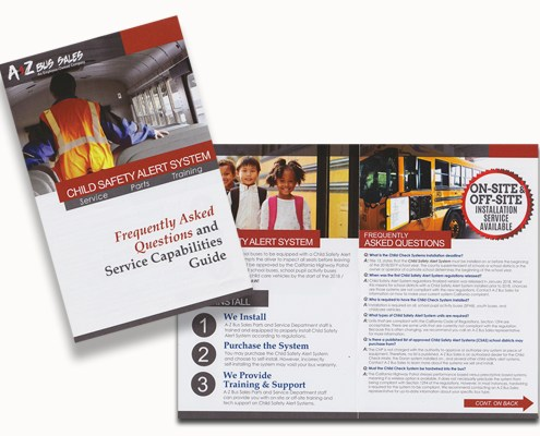 Image of child safety check brochure marketing campaign
