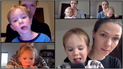 Handling Childcare in Online Small Groups