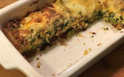 Broccoli, Sun Dried Tomato and Parmesan Frittata
