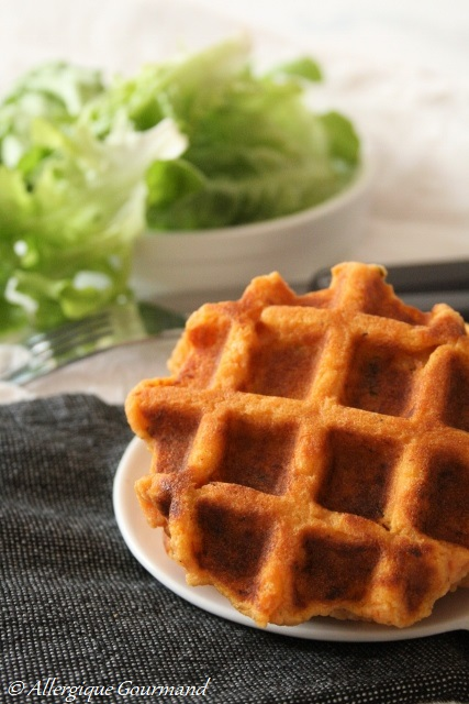 gaufres de patates douces sans gluten sans lait sans œufs