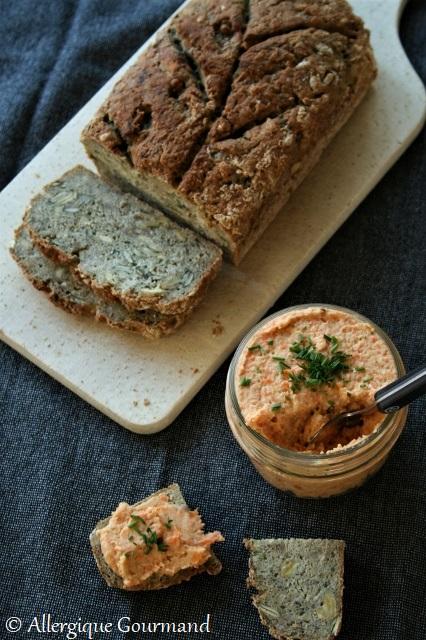 tartinade de carottes grillées sans gluten sans lait sans œufs