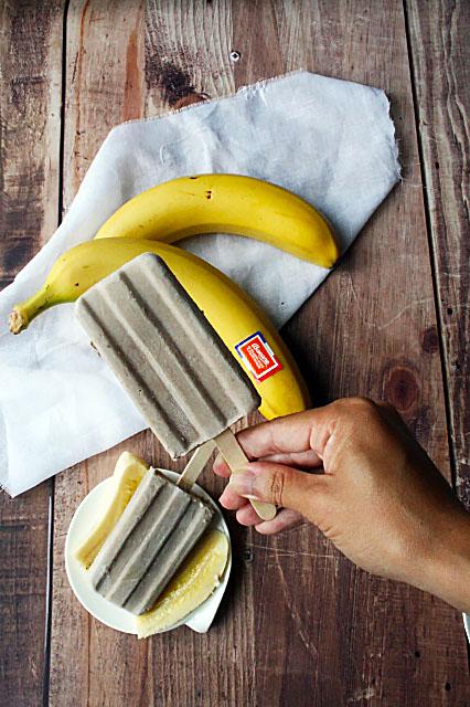 Bâtonnets de glace banane coco