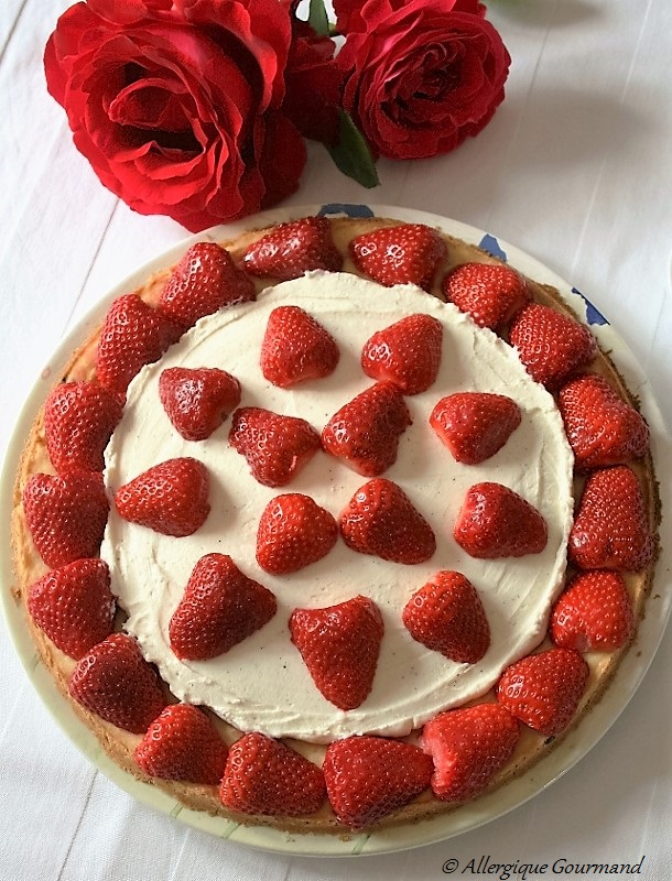 tarte sablée aux fraises crème mascarpone sans gluten sans œufs