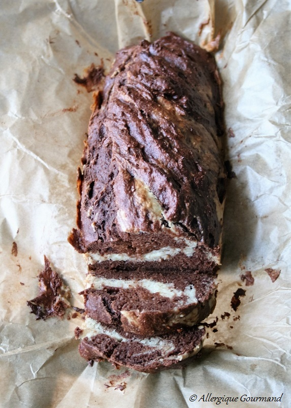 cake marbré chocolat coco sans gluten sans lait sans oeufs