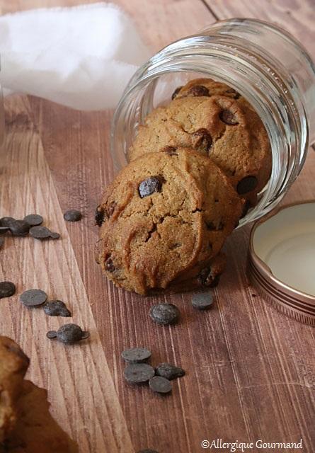 cookies aux pépites de chocolat sans gluten sans lait sans œufs