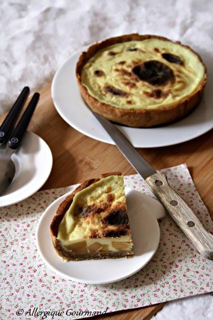 flan pâtissier aux pommes caramélisées sans gluten sans lait sans œufs