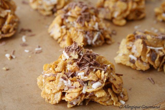 roses des sables noix de coco éclats de chocolat sans gluten sans lait sans oeufs