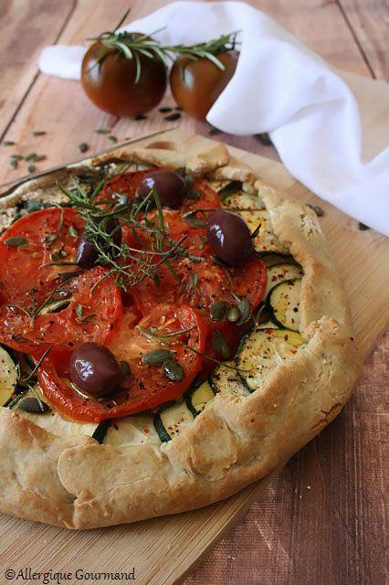 tarte rustique courgette tomates sans gluten sans lait sans oeufs