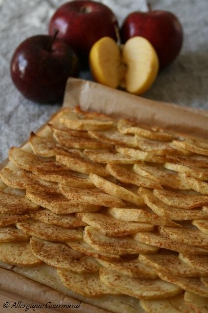 tarte fine aux pommes sans gluten sans oeufs