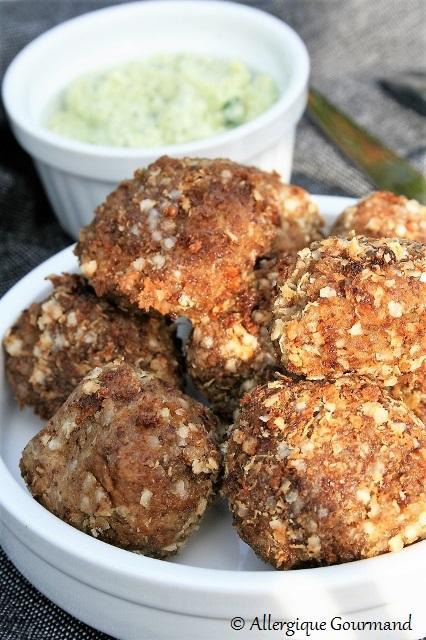 boulettes quinoa lentillons sans gluten sans lait sans oeufs