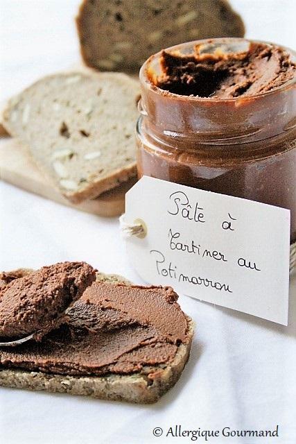 pâte à tartiner au potimarron sans gluten sans lait sans œufs