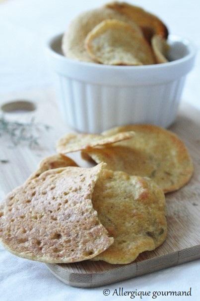 Chips lentilles quinoa sans gluten lait oeufs
