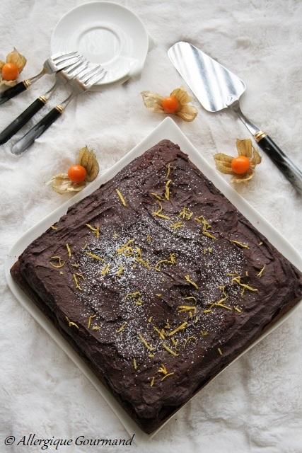 Moelleux au chocolat et sa crème de patates douces chocolatée