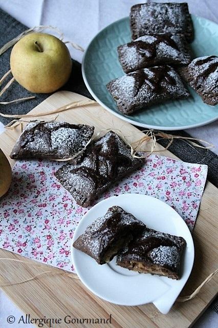 Chaussons aux pommes sans gluten sans lait sans œufs