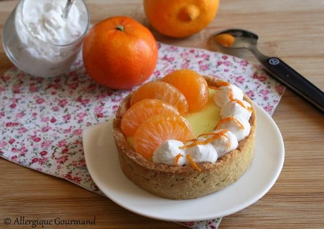 Tartelettes crème bergamote clémentine chantilly coco