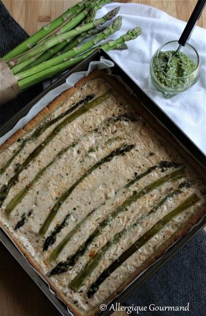 tarte salée aux asperges sans gluten sans lait sans oeufs