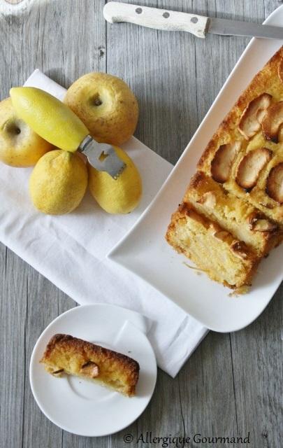 cake polenta pommes citron sans gluten sans lait sans oeufs