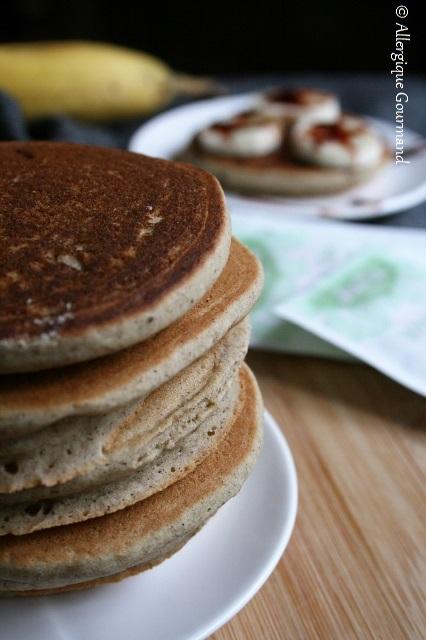 Fluffy pancakes sans gluten sans lait sans œufs