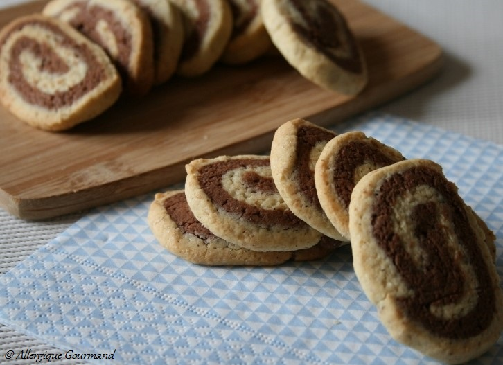 sablés cacao vanille sans gluten sans oeufs