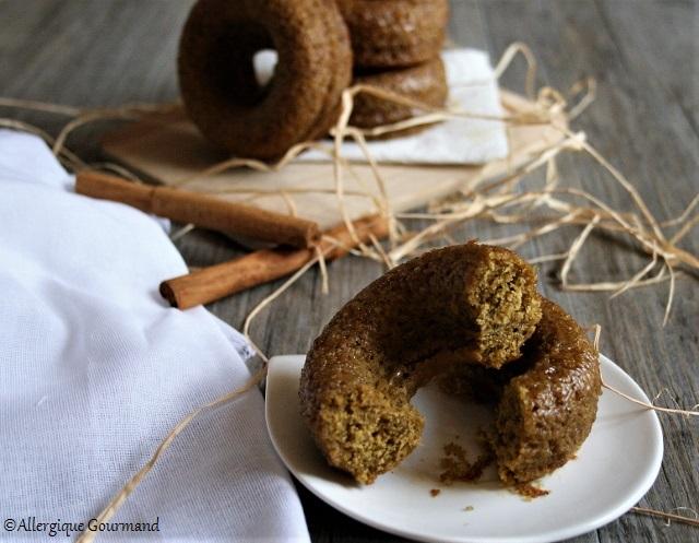 Comme des donuts potimarron cannelle sans gluten sans lait sans oeufs