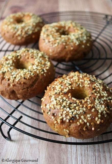 bagels sans gluten sans lait sans oeufs