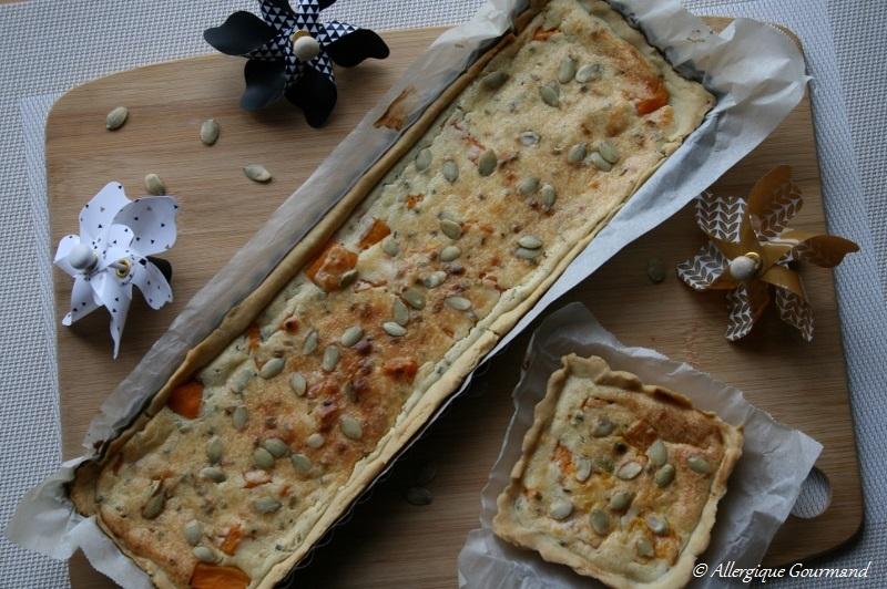 tarte à la butternut sans gluten sans oeufs