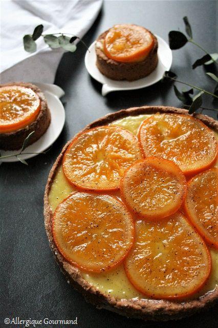 Tarte à l'orange sans gluten sans lait sans œufs