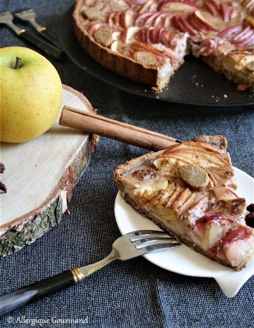 Tarte aux pommes à la crème de sarrasin cannelle sans gluten sans lait sans oeufs