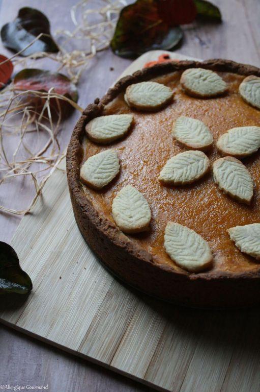 Pumpkin pie ou tarte au potimarron sans gluten sans lait sans oeufs