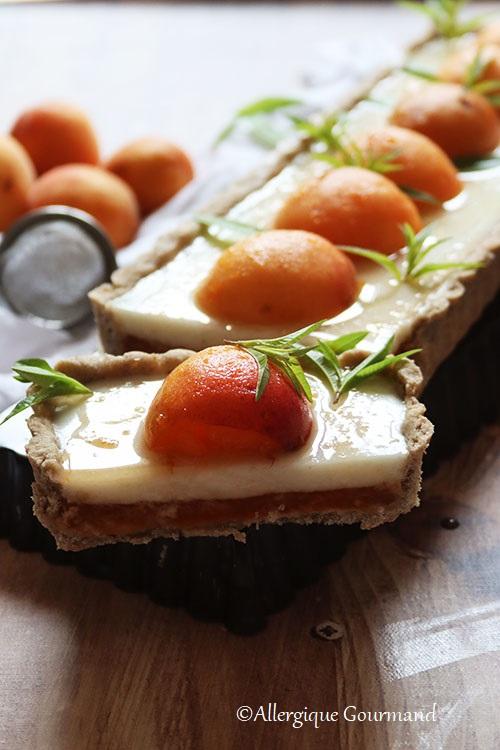 tarte abricots panna cotta verveine sans gluten sans lait sans oeufs