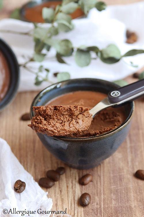 crème chocolat café sans gluten sans lait sans œuf