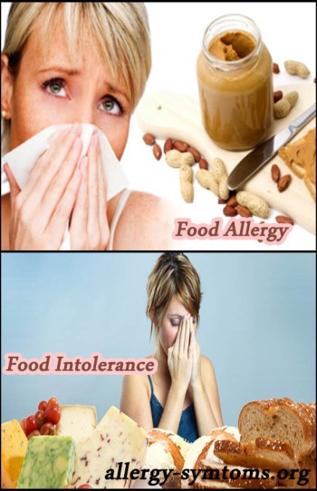 Food intolerances and allergies difference