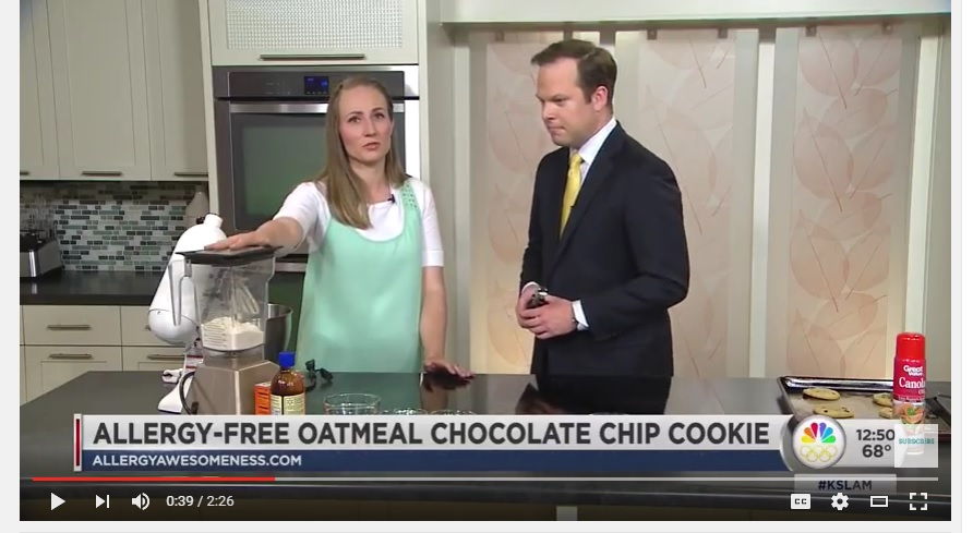 KSL Allergy Friendly Oatmeal Cookie Segment with Allergy Awesomeness